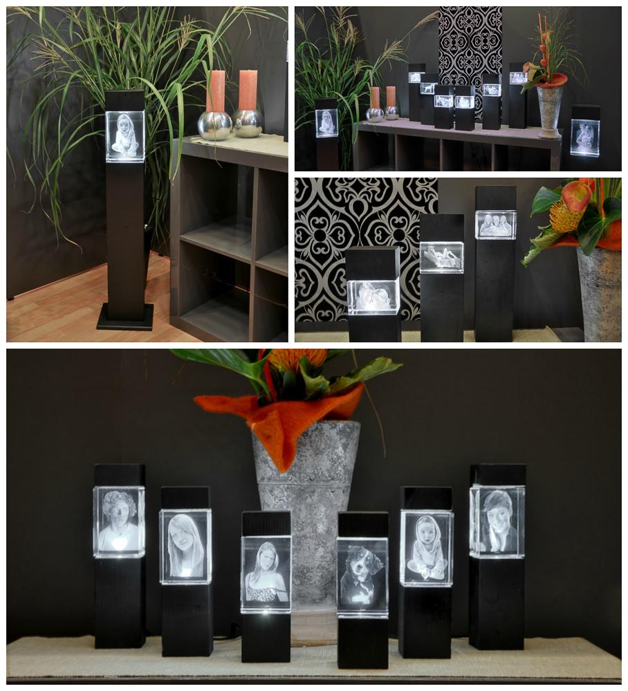 jetzt neu bei uns leuchtstelen f r die 3d glasbilder foto kreil das fotoatelier am zeitzer. Black Bedroom Furniture Sets. Home Design Ideas